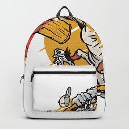 Angry Gorilla Cartoon Backpack