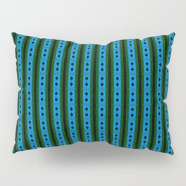 blue magic stripes pattern on the deep background Pillow Sham