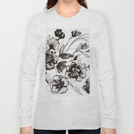 Ink Flowers Long Sleeve T-shirt