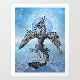 Mystic Bird Dragon Art Print