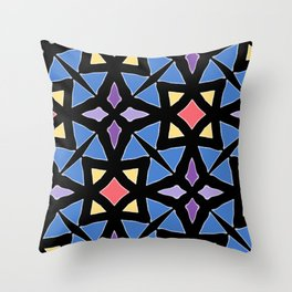 Stained Glass Color Pattern Art Throw Pillow