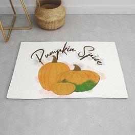 Pumpkin Spice Digital Watercolor Rug