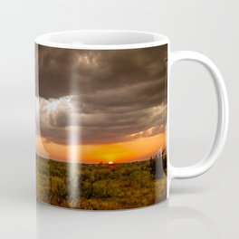 West Texas Sunset - Colorful Landscape After Storms Coffee Mug