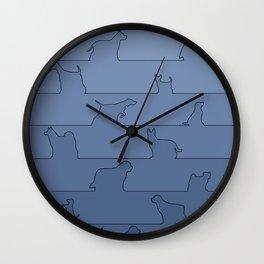Blue Dog Ombre Wall Clock