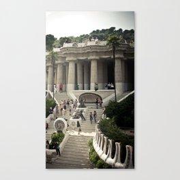 Barcelona. Park Güell Canvas Print