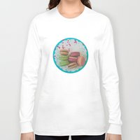 macaron Long Sleeve T-shirts featuring Colorful Macarons by Jessica Torres Photography