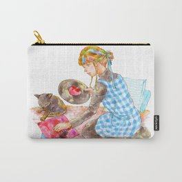 A girl with a kitten vol.2 Carry-All Pouch