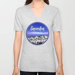 Mount Snowdon Wales Unisex V-Neck