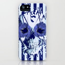 Limbo in navy color palette iPhone Case