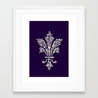 royal Framed Art Prints featuring Royal by Candace Fowler Ink&Co.