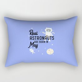 Astronauts are born in May T-Shirt D3lhy Rectangular Pillow