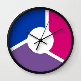 Bisexual Pride Flag Circle Wall Clock