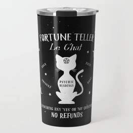 Fortune Teller Psychic Cat Travel Mug