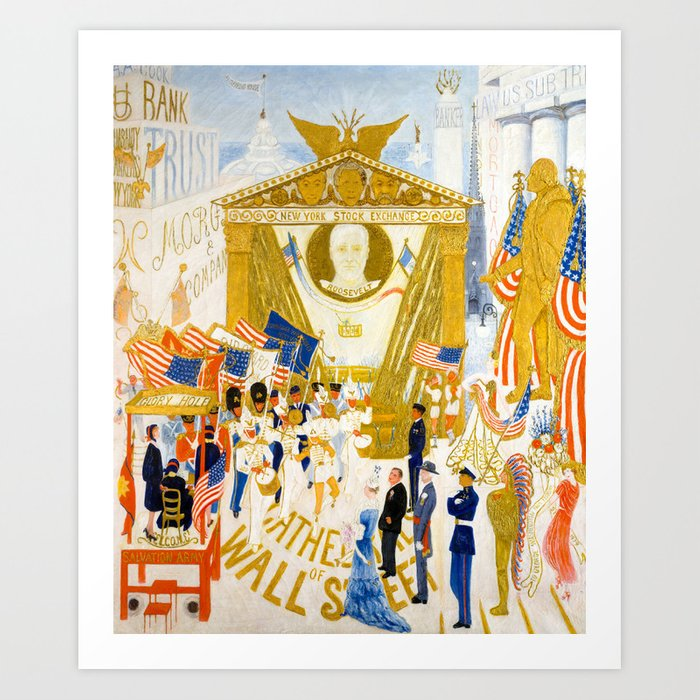 The Cathedrals of Wall Street by Florine Stettheimer, 1939 Art Print ...