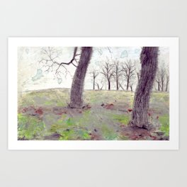 Autumn Trees Art Print