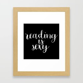 Reading is Sexy (Inverted) Framed Art Print