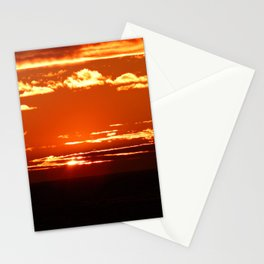 Red Gold Sunset in the Clouds Stationery Cards