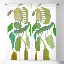 Green Abstract Figure Blackout Curtain