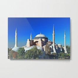Hagia Sophia in Istanbul,Turkey Metal Print