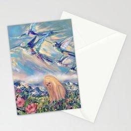 Alpine hummingbirds Stationery Cards