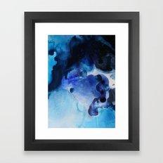 Indigo watercolor Framed Art Print