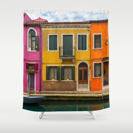The Streets of Burano Shower Curtain