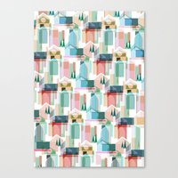 bath Canvas Prints featuring Bath by Coral Elizabeth Design