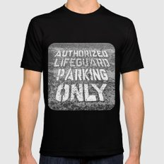 Lifeguard Parking LARGE Black Mens Fitted Tee