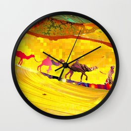 over the never ever ending sand Wall Clock