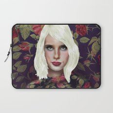 Young Girl and Flowers (Emma Roberts) Laptop Sleeve