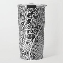 Austin Texas City Map Travel Mug