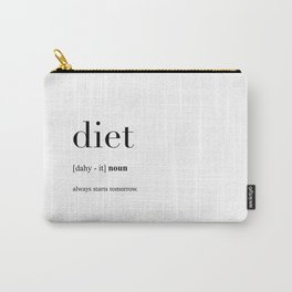 Diet definition Carry-All Pouch