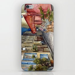 Postcards from Paris - Montmartre by Night: Le Tire-Bouchon Creperie iPhone Skin