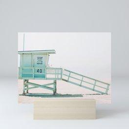 Lifeguard Shack on the Beach Mini Art Print