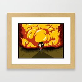 Don't mess with my town. Framed Art Print