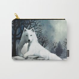 Wolf Mother and Pup Carry-All Pouch