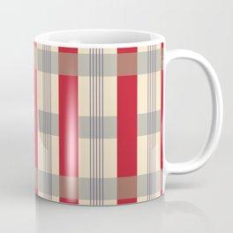 Red Striped Plaid Coffee Mug