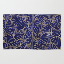 Tangles Blue and Gold Rug