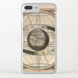 Keller's Harmonia Macrocosmica - Scenography of Ptolemaic Cosmography 1661 Clear iPhone Case