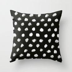 White Dots Pattern Throw Pillow