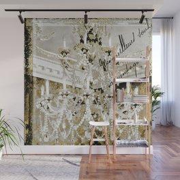 Crystal Pearls Chandelier Paris Wall Mural