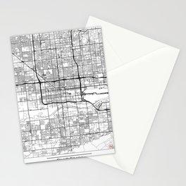 Phoenix Map White Stationery Cards