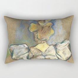 "Henri de Toulouse-Lautrec ""Jane Avril"" Rectangular Pillow"