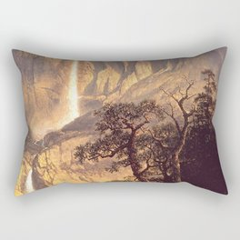 Cho Looke The Yosemite Fall 1864 By Albert Bierstadt | Reproduction Painting Rectangular Pillow