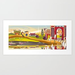 OLD MEETS NEW IN HUE Art Print