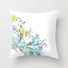 mon petit dejèune Throw Pillow