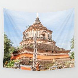 The Chedi of Wat Lok Molee, Chiang Mai, Thailand Wall Tapestry