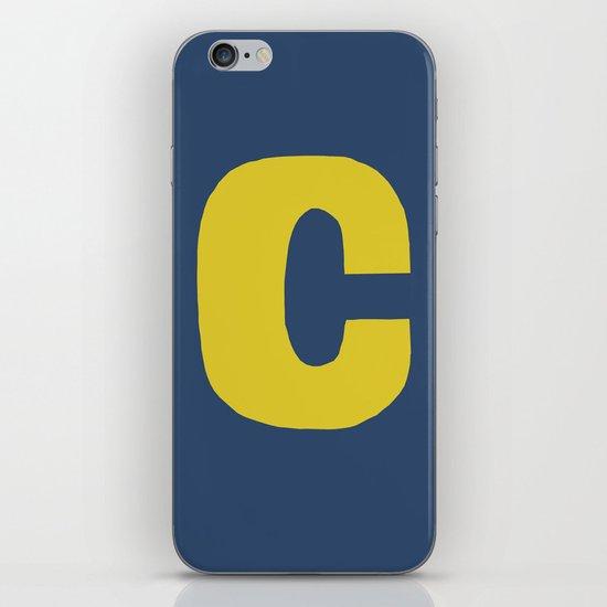 Yellow C iPhone & iPod Skin