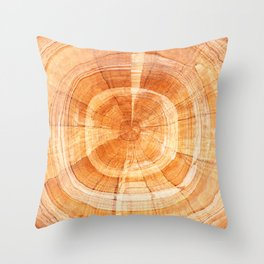 Woody Rings. Throw Pillow