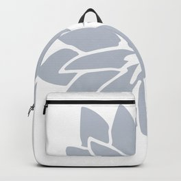 Flower Bluebell Blue on White Backpack